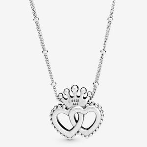 Pandora Regal Hearts Sterling Necklace